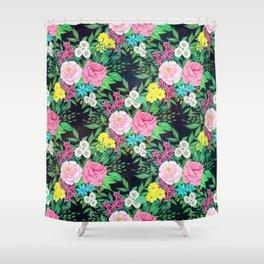 Pretty hand paint watercolor floral design Shower Curtain