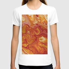 paint stains bubbles liquid texture blending T-shirt