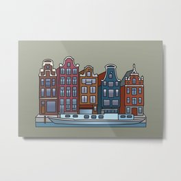 Amsterdam Canal houses Metal Print