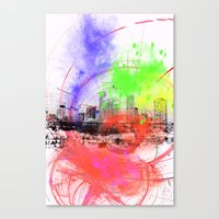 skyline Canvas Prints featuring Skyline by Fine2art