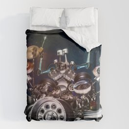 Drum Machine - The Band's Engine Duvet Cover