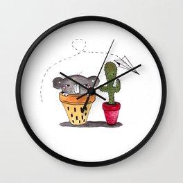 Two little friends Wall Clock