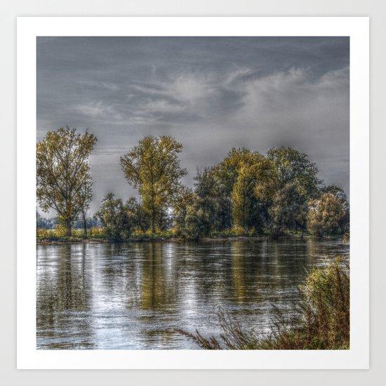 Danube in HDR Art Print