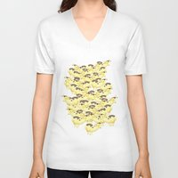 cows V-neck T-shirts featuring Cows by Ana Elisa Granziera