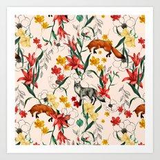 Floral Fox Art Print