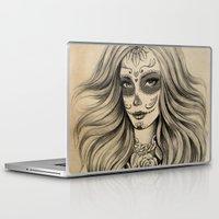 sugar skull Laptop & iPad Skins featuring Sugar Skull by Vivian Lau