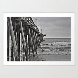 """An Old Feel"" Pier Art Print"