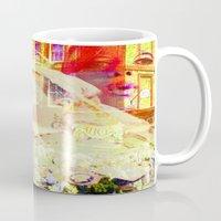 england Mugs featuring Old England by Joe Ganech