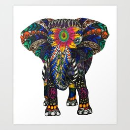 Spiritual Elephant Art Print