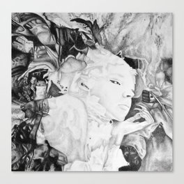 I guess I'm dreaming again, 2017, 50-50cm, graphite crayon on paper Canvas Print