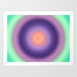 Ripple I Pixelated Art Print