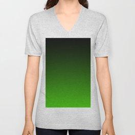 Black and Grass Green Gradient 055 Unisex V-Neck