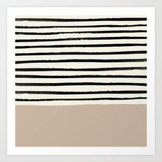 Latte & Stripes Art Print