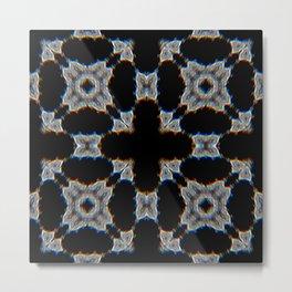 3D Blur Quad Metal Print