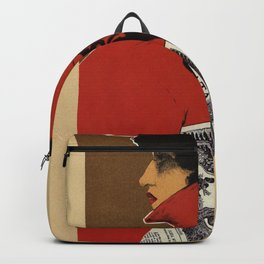 Golden Prague art nouveau Backpack