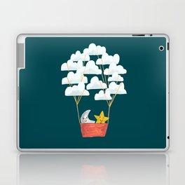 Hot cloud baloon - moon and star Laptop & iPad Skin