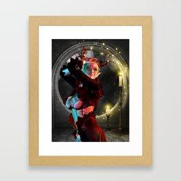Mystical moon Framed Art Print