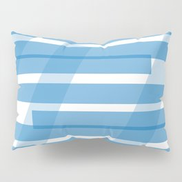 Electric Blue Slats Pillow Sham