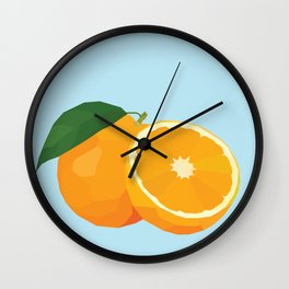 Geo Orange Wall Clock