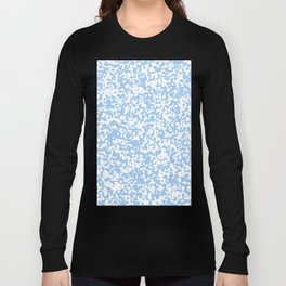 Small Spots - White and Baby Blue Long Sleeve T-shirt