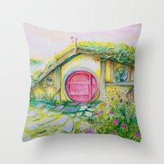 Hobbit Home 1 Throw Pillow
