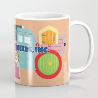 monster inc Mugs featuring Nerds Inc by Lacey Simpson