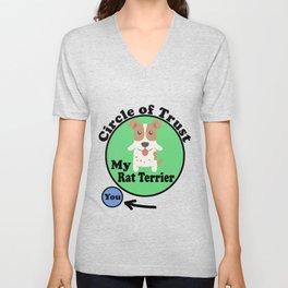 Circle Of Trust Cute Rat Terrier Unisex V-Neck