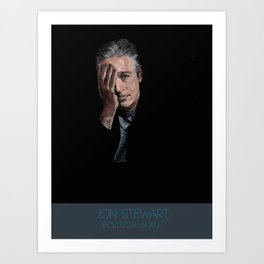 Jon Stewart Art Print