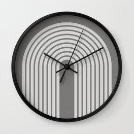 Grey Retro Rainbow Wall Clock