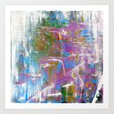 Sky Dive - colorful abstract painting. by rvhart