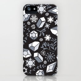 Winter diamonds iPhone Case