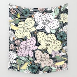 Orchids in Bloom Wall Tapestry