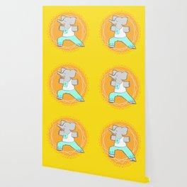 Yoga elephant - warrior pose Wallpaper