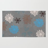 discount Area & Throw Rugs featuring Earthy FlowerZ by Katayoon Photography