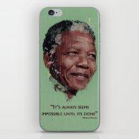 mandela iPhone & iPod Skins featuring Nelson Mandela by LightCircle