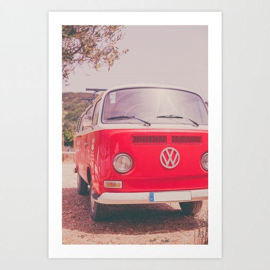 Red Ride Art Print