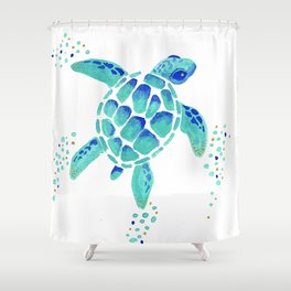 Neptuneu0027s Turtle Shower Curtain