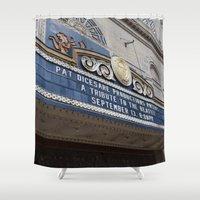 theatre Shower Curtains featuring Pittsburgh Tour Series - Theatre Marquee by Sarah Shanely Photography