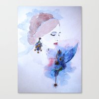 lady Canvas Prints featuring Lady by S.Svetlankova