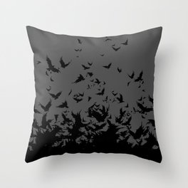 An Unkindness of Ravens (Grey) Throw Pillow