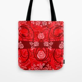 roses need thorns vector art red Tote Bag