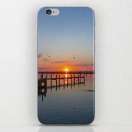 Sunset In Chincoteague Island iPhone Skin