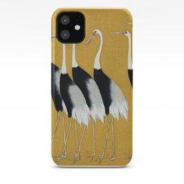 Japanese red crown crane - Ogata Korin iPhone Case