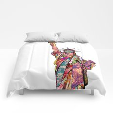the french gift: statue of liberty Comforters