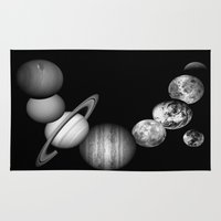 solar system Area & Throw Rugs featuring the solar system by Galaxy Dreams