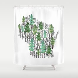 Wisconsin Forest Shower Curtain