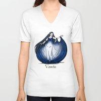 valar morghulis V-neck T-shirts featuring Varda by wolfanita