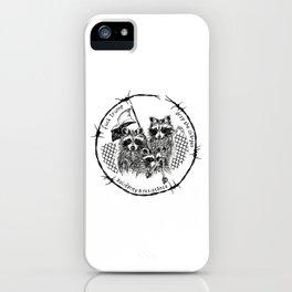 J20 solidarity raccoons iPhone Case