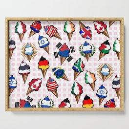 Ice cream flags Serving Tray