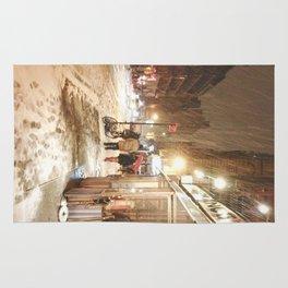 New York City - Snow at Night - Ludlow Street Rug